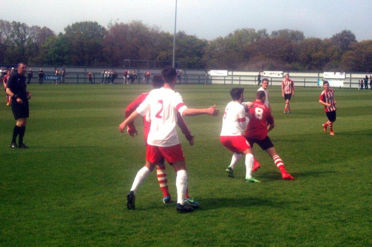 Sholing hosting Follands Sports in last seasons derby